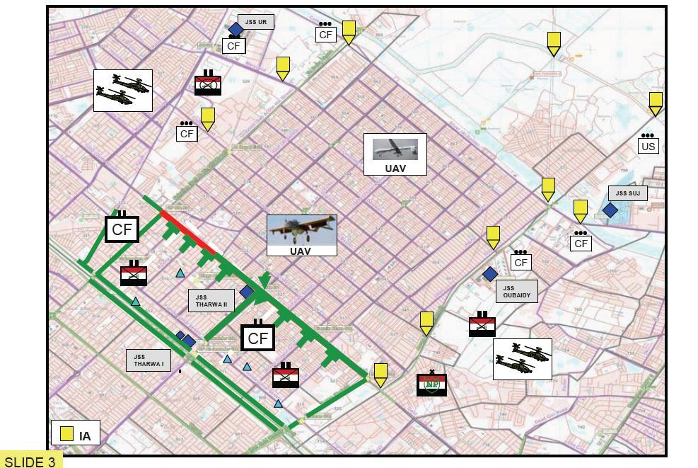 Sadr City operations map