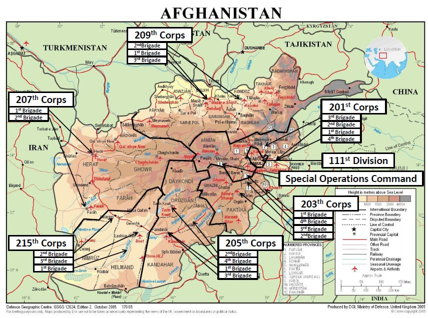 Afghan National Army Update May FDDs Long War Journal - Afghanistan map us