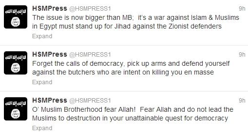 Shabaab Tweets on Muslim Brotherhood Crackdown August 19 1.jpg