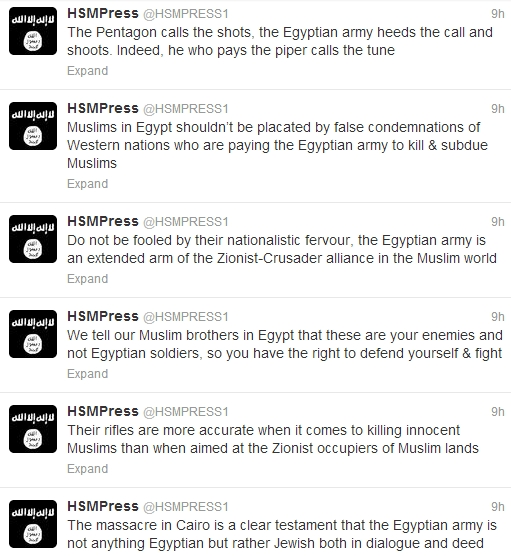 Shabaab Tweets on Muslim Brotherhood Crackdown August 19 2.jpg