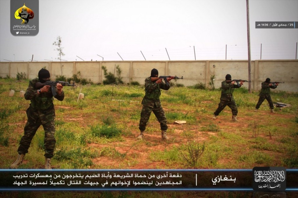 Fighters from al Qaeda-backed Ansar al Sharia Libya operate a training camp in Benghazi.