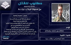 15-08-21 Belmokhtar wanted dead poster