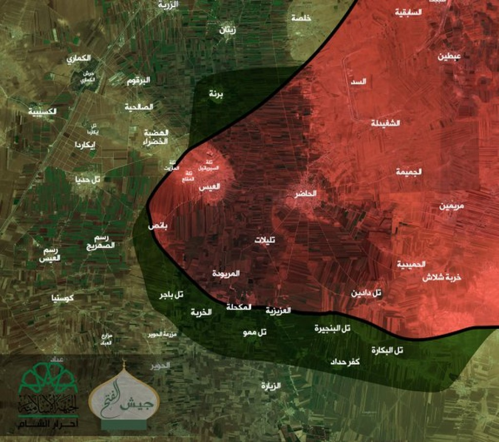 15-11-23 Ahrar al Sham map of Aleppo