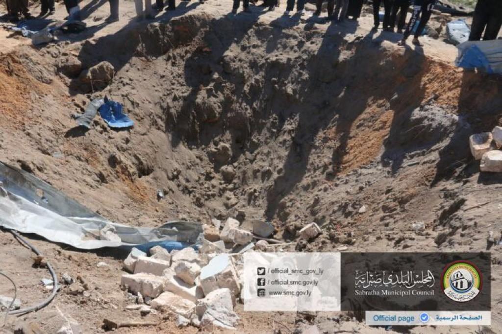 16-02-19 Sabratha municipal council photos of American bombing 1
