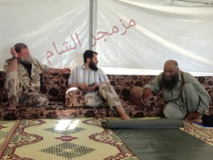 Abu Firas al Suri with Abu Khalid and Hassan Abboud