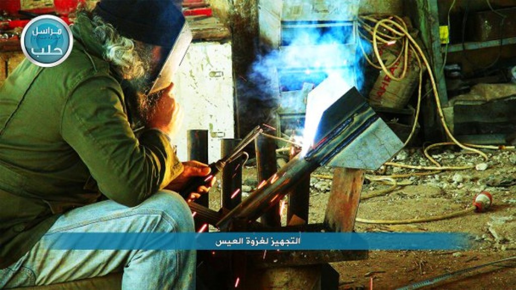 Nusrah Front Fighters preparing rockets 3