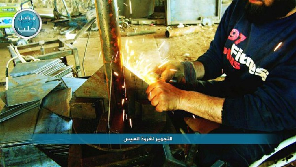Nusrah Front Fighters preparing rockets 4