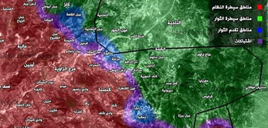 16-06-27 Jaysh al Izzah map of are in Latakia