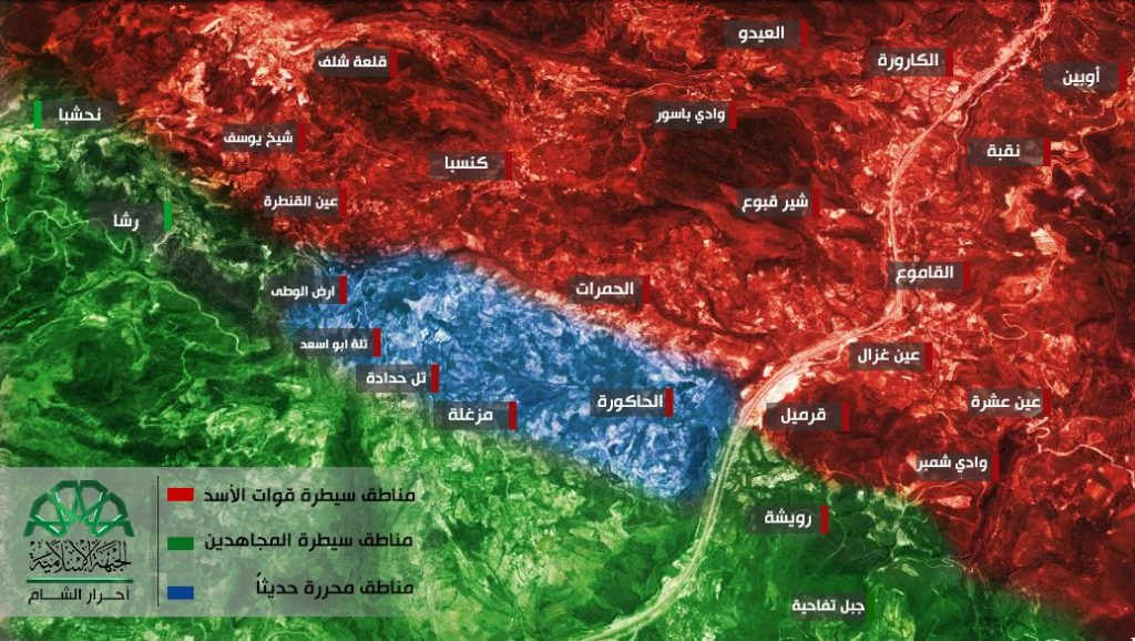 16-06-28 Ahrar al sham map of areas in Latakia