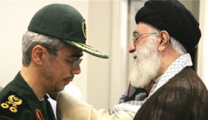 Iran's Supreme Leader Ayatollah Ali Khamenei (R) appoints Major General Mohammad Bagheri (L) as the new chief of the Armed Forces General Staff, Tehran, Jun. 28.