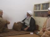 Abu Mehdi Muhandis meeting with Grand Ayatollah Bashir Hussain Najafi in Najaf