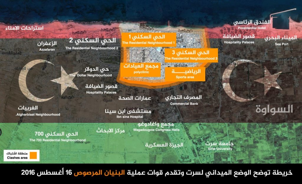 16-08-17 Map of clashes in Sirte