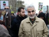 Qassem Soleimani attending march in February 2016 to commemorate the anniversary of the 1979 Islamic Revolution.