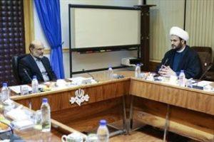 Ali Askar, head of IRIB, meeting with Akram al Kabi on Aug. 28.