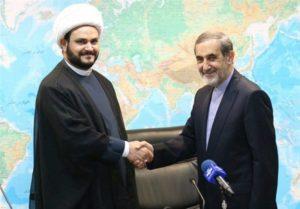 Ali Akbar Velayati, top foreign policy advisor to the supreme leader, received Iraqi militia leader Akram al Kabi in Tehran on Sept. 1.