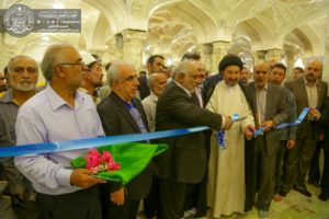 Former IRGC Qods Force commander Hassan Pelarak inaugurating phases 1 and 2 of project to expand the Hazrat-e Zahra shrine in Najaf, Iraq.