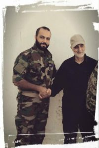 Qassem Soleimani with SAA Tiger Forces Commander Major General Duraid Abu Ammar, reportedly on September 6.