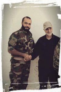 Qassem Soleimani with SAA Tiger Forces Commander Major General Duraid Abu Ammar, reportedly on September 6.