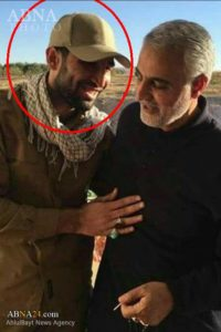 IRGC-QF chief Qassem Soleimani, right, and AAH commander Mohammad-Bagher Soleimani.