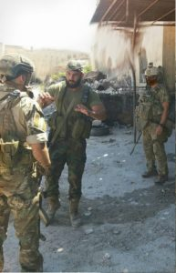 Photo circulating on social media allegedly showing Russian special forces in Aleppo military base, September 3.