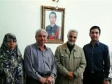 Qassem Soleimani visiting the family of the first regular Army fatality in Syria.