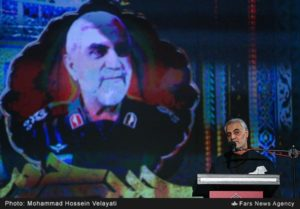 IRGC-QF commander Qassem Soleimani gave an address at commemoration ceremony of deceased senior IRGC commander Hossein Hamedani.