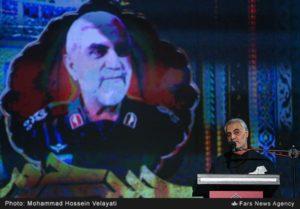 IRGC-QF commander Qassem Soleimani gave an address at commemoration ceremony of deceased senior IRGC commander Hossein Hamedani.