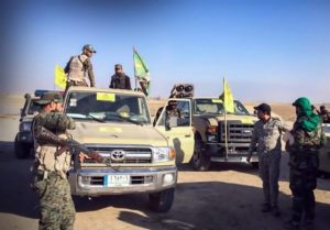 IRGC-backed Harakat al Nujaba forces preparing to move out in western Mosul Axis.