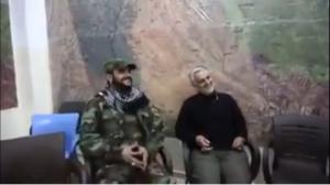 Qassem Soleimani and Akram Kabi in Aleppo, Syria, Nov. 2015.
