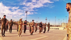 Photo 11. Dir Wilayat Brigades holding training exercises in Hamdaniyah Stadium near Aleppo, according to social media post.