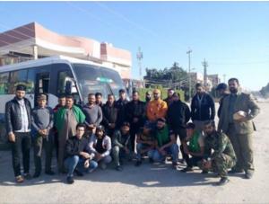 Photo 10. Dir' al Wilayat Brigades announcing deployment to Syria, Nov. 7.