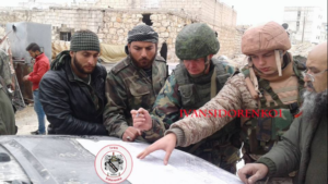 Photo 7. Russian military personnel with SAA Military Intelligence Shield Force, Dec. 4.